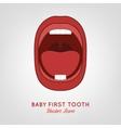 Baby First Teeth vector image