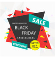 banner sale black friday special deal up to 70 of vector image