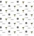 cocktail bar glitter glass seamless pattern vector image
