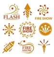Fireworks icons vector image