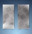 Halftone black tile banner collection vector image