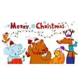 Seasonal greetings card vector image