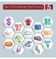 Set of e-money icons vector image