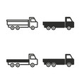 truck icon set vector image