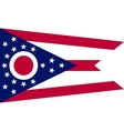 Flag of Ohio in correct size and colors vector image