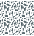 Seamless pattern of dog grooming vector image