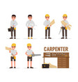 carpenter joiner foreman engineer and vector image vector image
