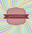 Retro badge style on sunray background vector image vector image
