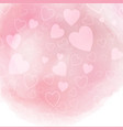 watercolor hearts background vector image