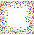 Colorful Confetti Border vector image