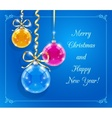 Christmas card with shining vector image vector image