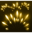 Yellow firework vector image
