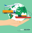 best delivery concept vector image