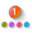 color glossy icon vector image