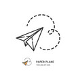 paper plane thin line icon flat vector image