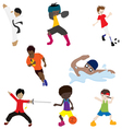 Sport man 1 vector image