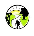 tourism emblem vector image