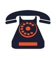 rotary telephone icon vector image