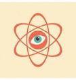 The model of a molecule atom Retro poster vector image vector image