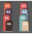 Ribbons with Numbers vector image