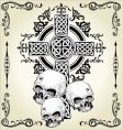 skull cross tattoo vector image vector image