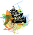 Quad bike vector image vector image
