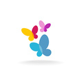 Three butterfly logo vector image vector image