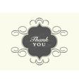 Thank you card Templates vector image