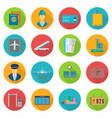 aiport icon set vector image