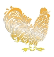 Cockerel golden decorative rooster vector image