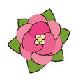 flower decoration floral icon vector image