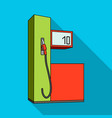 gas station for carscar single icon in flat style vector image