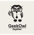 geek owl logo vector image