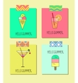set of bright cards with lemonade ice vector image
