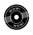 Wow rubber stamp vector image