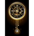 Clock with Pendulum vector image
