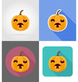 pumpkins for halloween flat icons 11 vector image