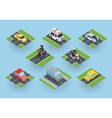Public Transportation Traffic Items Collection vector image