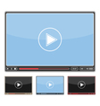 Simple Video Player vector image