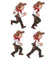 Running Cowboy Sprite vector image