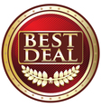 Best Deal Red Label vector image vector image