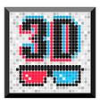 3D glass frame vector image