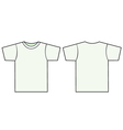 unisex tshirt template vector image vector image