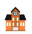 House with a mansard icon vector image