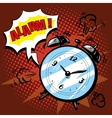 Alarm clock rings to wake up in the morning vector image
