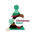 Christmas banner with baubles vector image