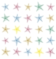 Colorful hand drawn sketched starfish decoration vector image