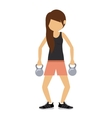 female athlete practicing weight lifting vector image