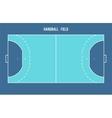 Handball field Top view vector image