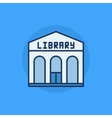 Library building flat icon vector image